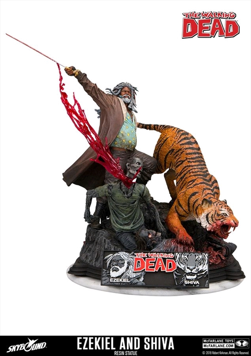 The Walking Dead - Ezekiel & Shiva Resin Statue   Merchandise
