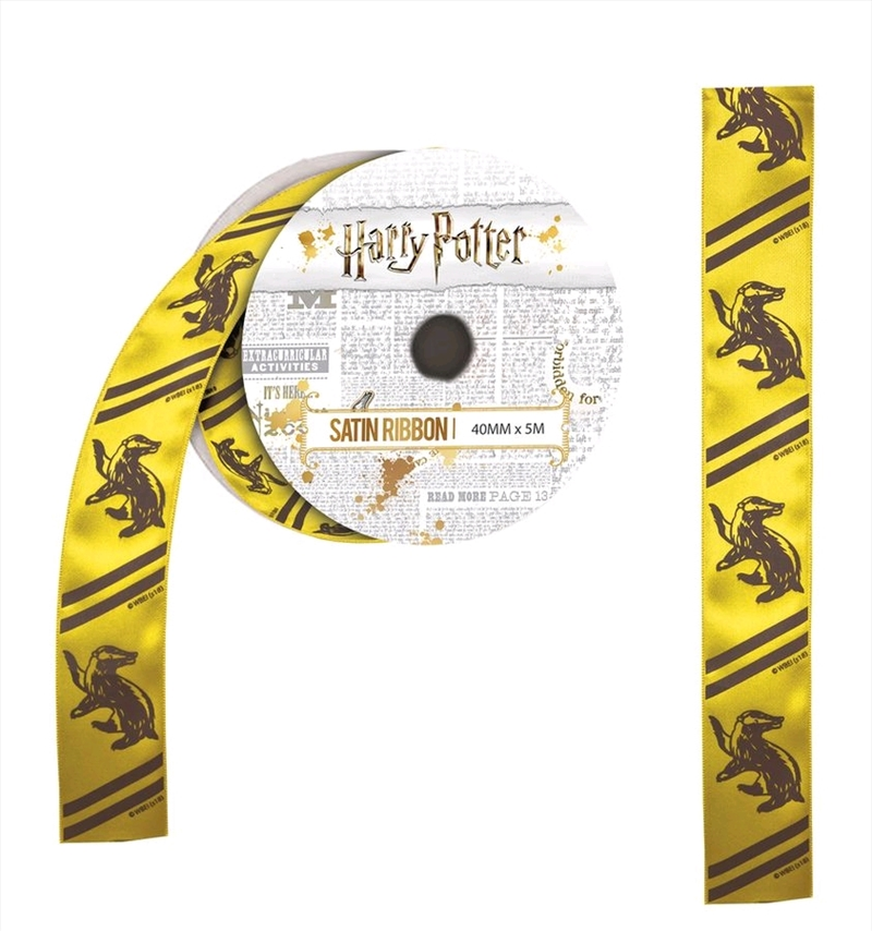 Harry Potter - Hufflepuff Satin Ribbon (5 metres) | Miscellaneous