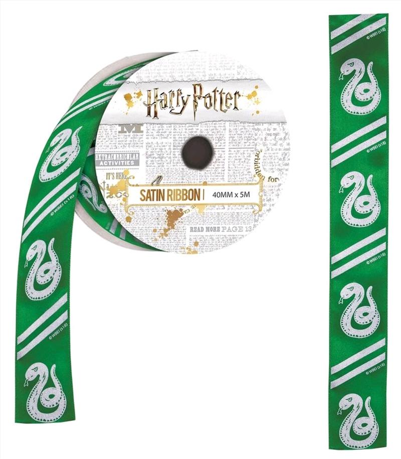 Harry Potter - Slytherin Satin Ribbon (5 metres)   Miscellaneous