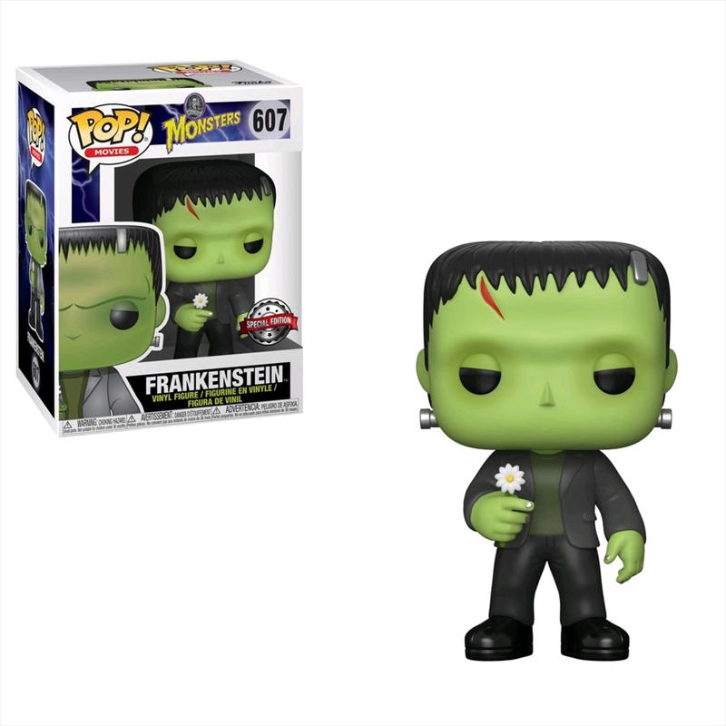 Universal Monsters - Frankenstein with Flower US Exclusive Pop! Vinyl [RS] | Pop Vinyl