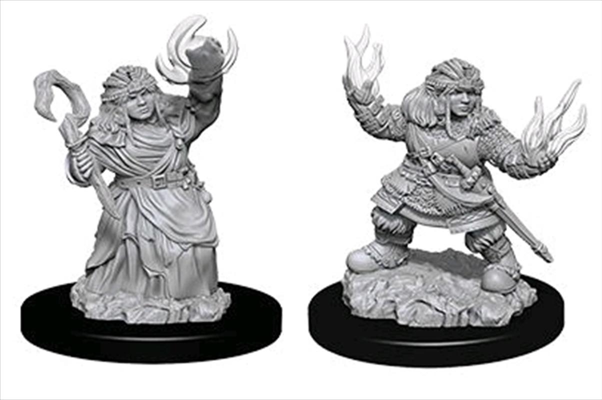 Pathfinder - Deep Cuts Unpainted Female Dwarf Summoner   Games