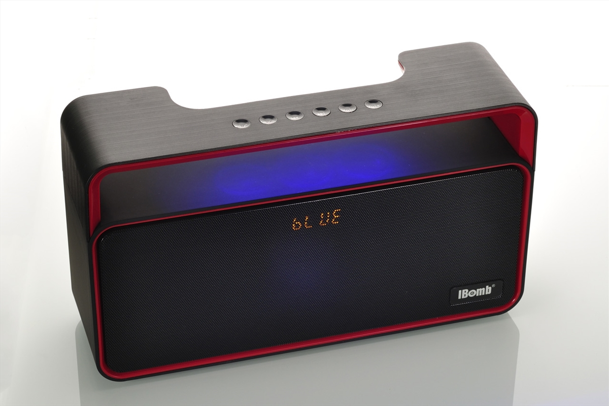 iBomb Party - Super Bass Bluetooth Speaker Black/Red   Accessories