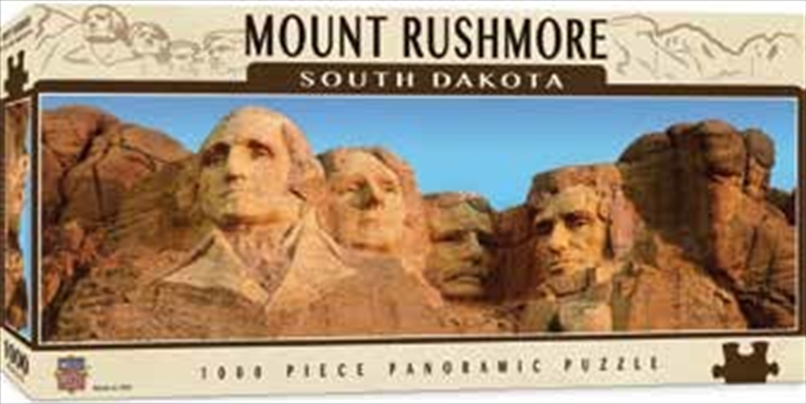 Mount Rushmore Panoramic Puzzle 1000pc | Merchandise