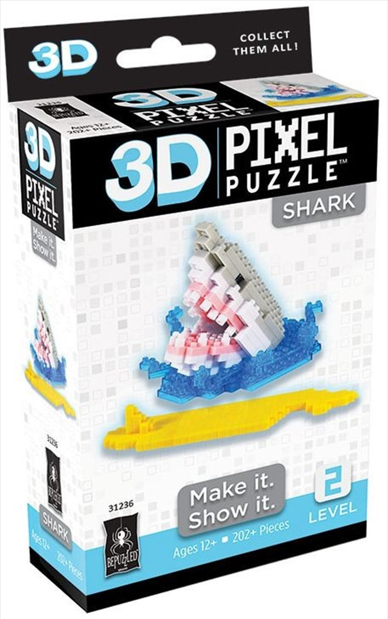 3D Pixel Puzzle Mini - Shark | Merchandise