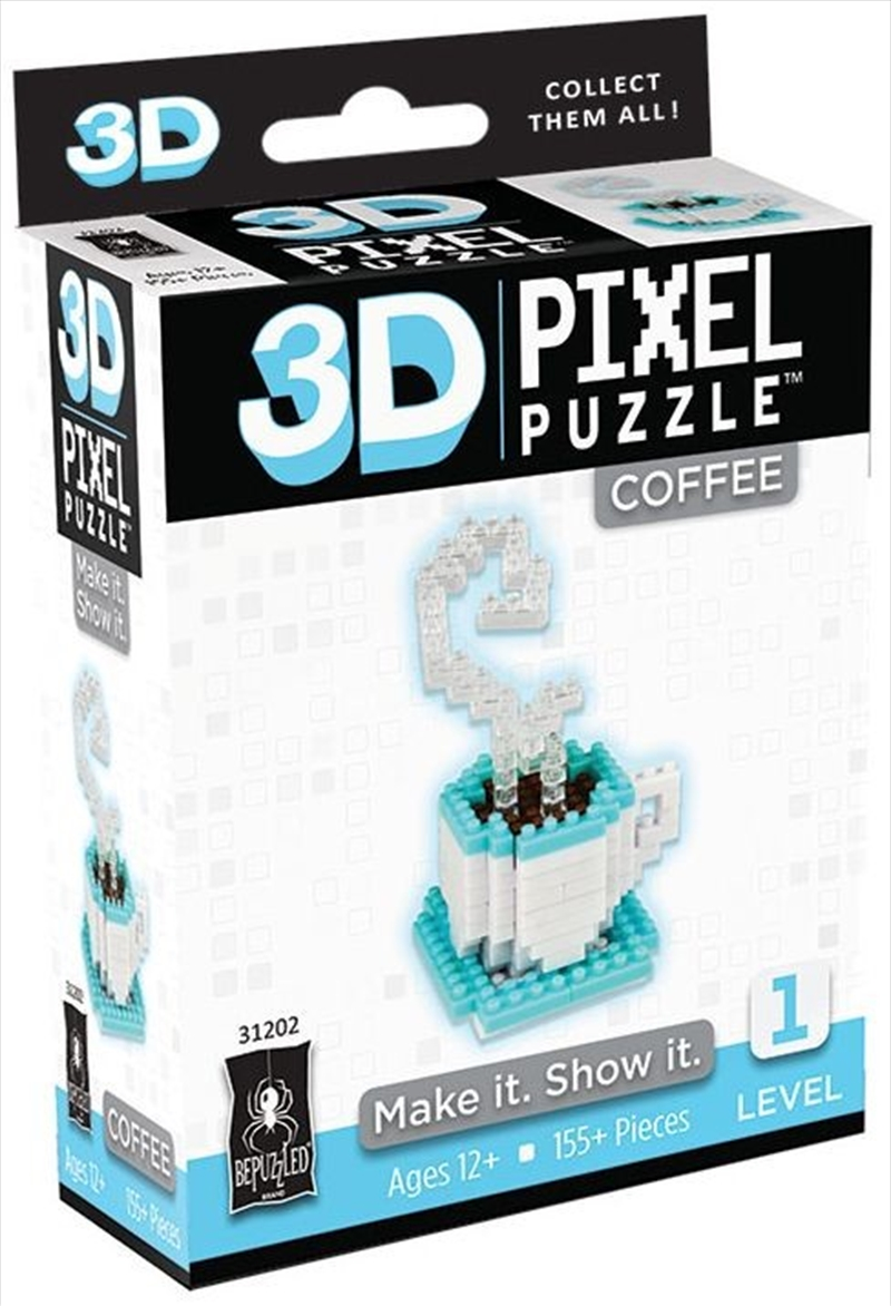3D Pixel Puzzle Mini - Coffee | Merchandise