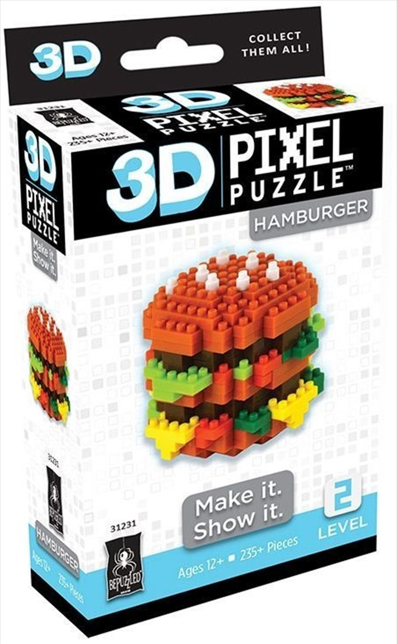 3D Pixel Puzzle Mini - Cheeseburger | Merchandise