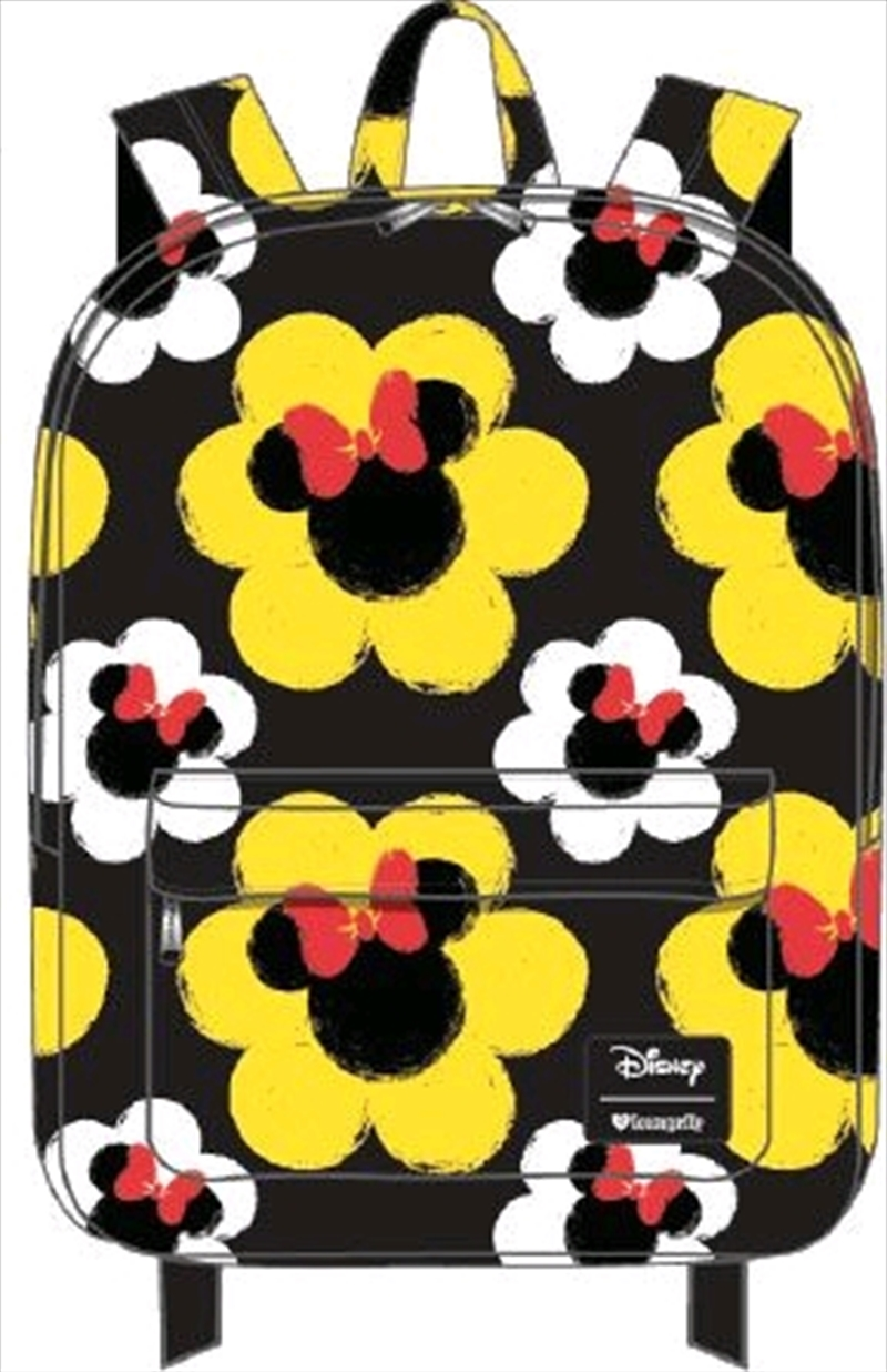 Mickey Mouse - Minnie Flower Print Backpack | Apparel