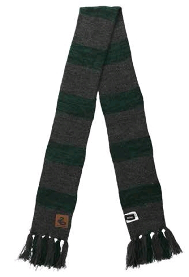 Harry Potter - Syltherin Heathered Knit Scarf | Apparel
