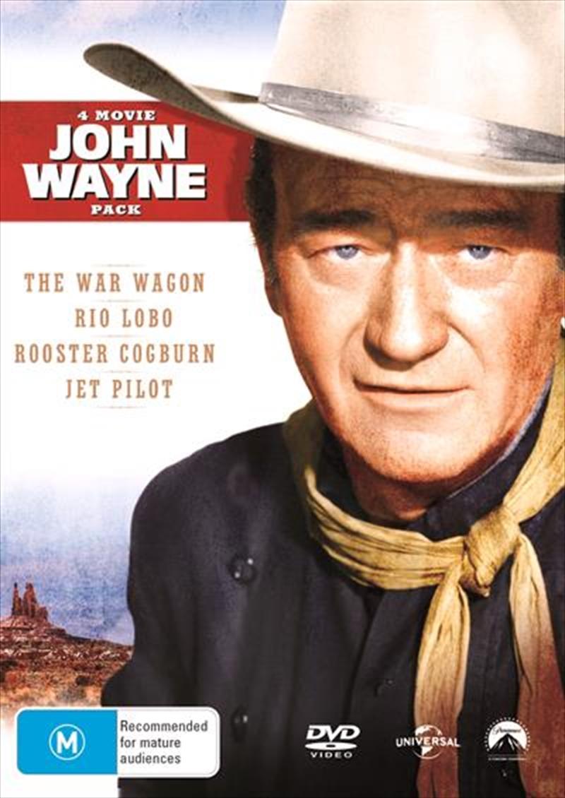 John Wayne 4 Pack: War Wagon / Rio Lobo / Rooster Cogburn / Jet Pilot   DVD