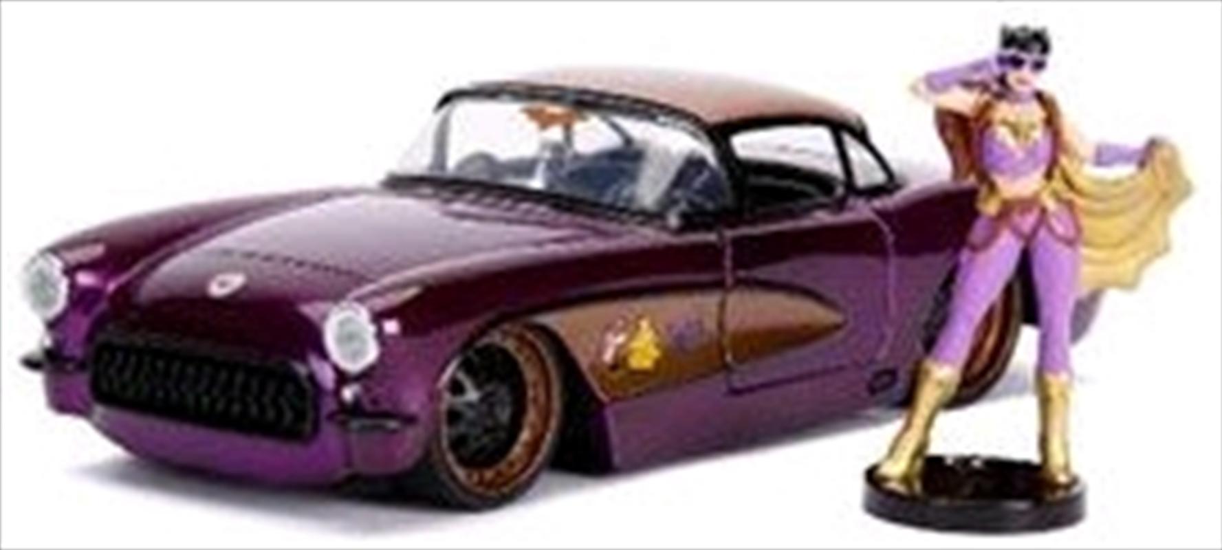 DC Bombshells - Batgirl 1957 Chevy Corvette 1:24 Scale Hollywood Rides Diecast Vehicle   Merchandise