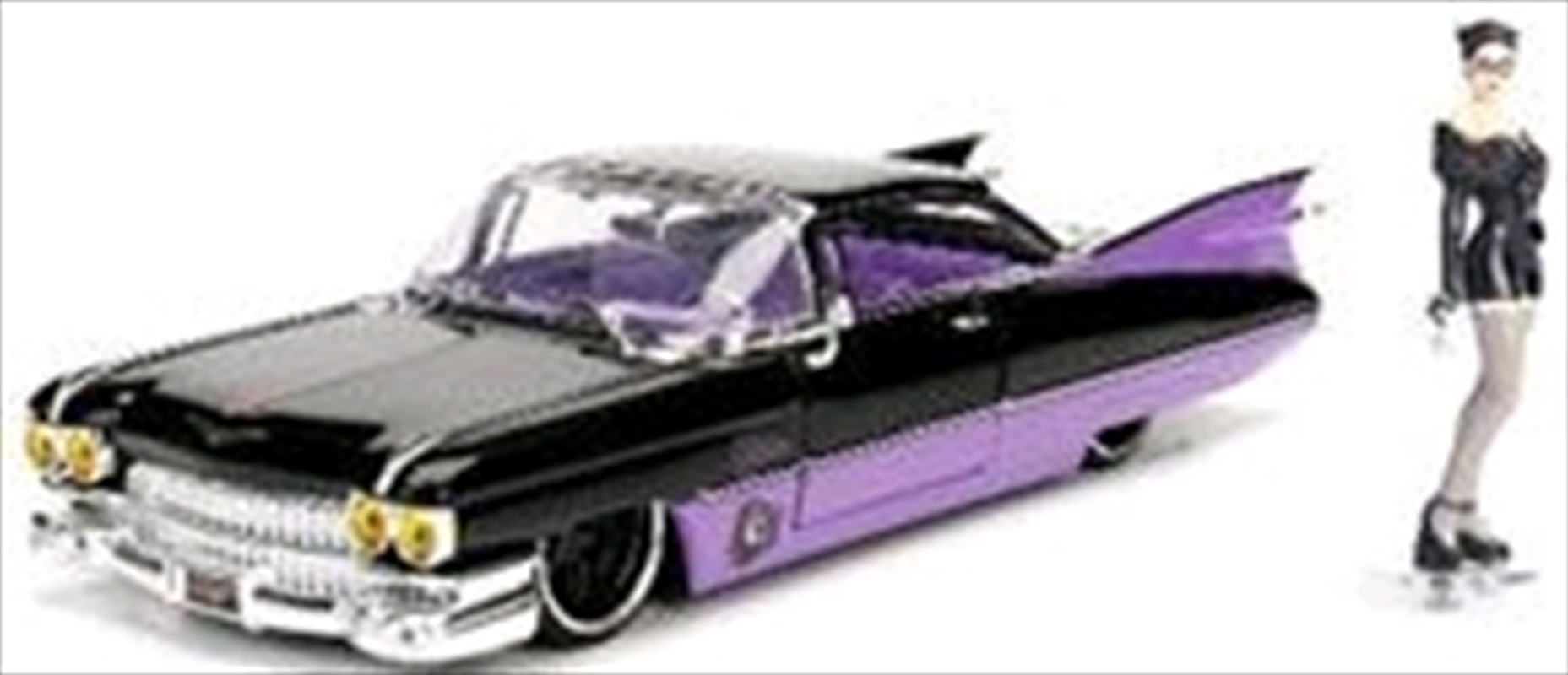 DC Bombshells - Catwoman 1959 Cadillac 1:24 Scale Hollywood Rides Diecast Vehicle | Merchandise
