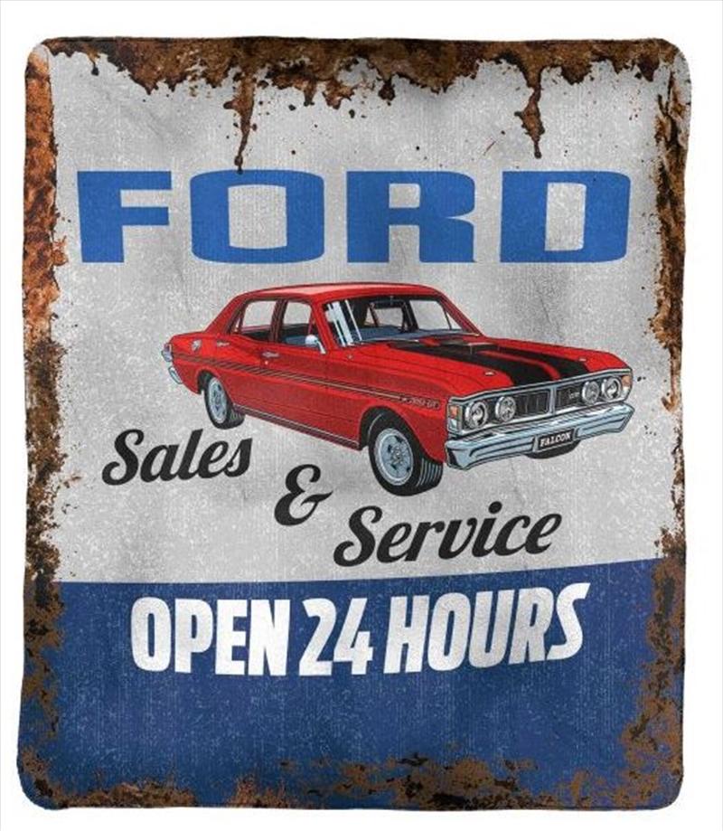 Ford Polar Fleece Throw Rug | Merchandise