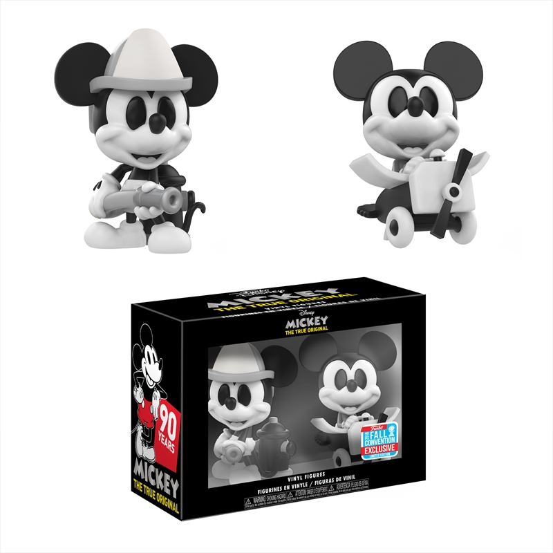 Mickey Mouse - Black & White NYCC 2018 Exclusive Mini Vinyl Figures 2-pack [RS] | Merchandise