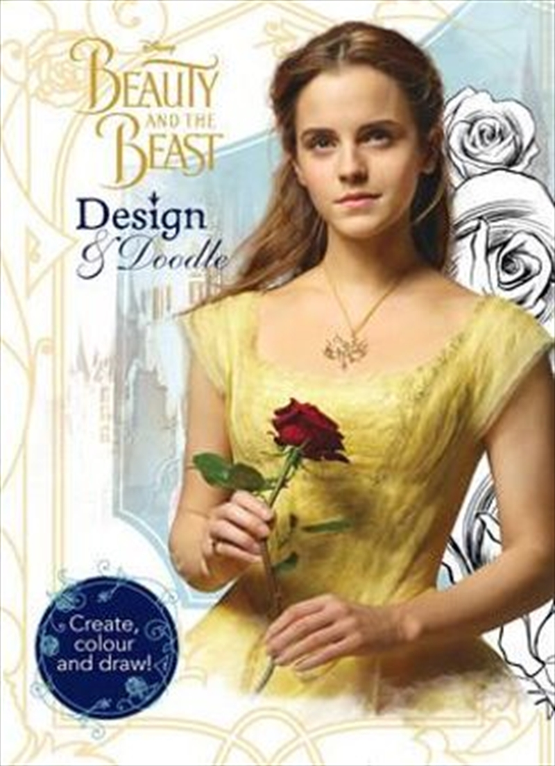Disney Beauty and the Beast Design & Doodle Create, Colour and Draw! | Paperback Book