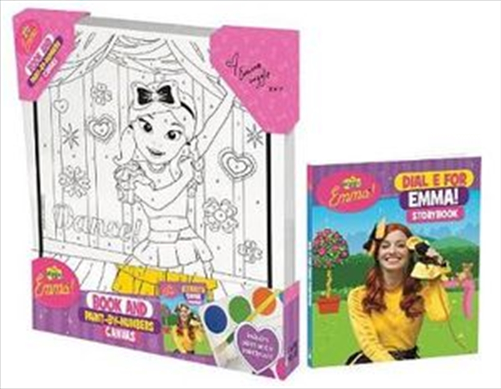The Wiggles Emma! Book and Paint by Numbers Canvas   Paperback Book