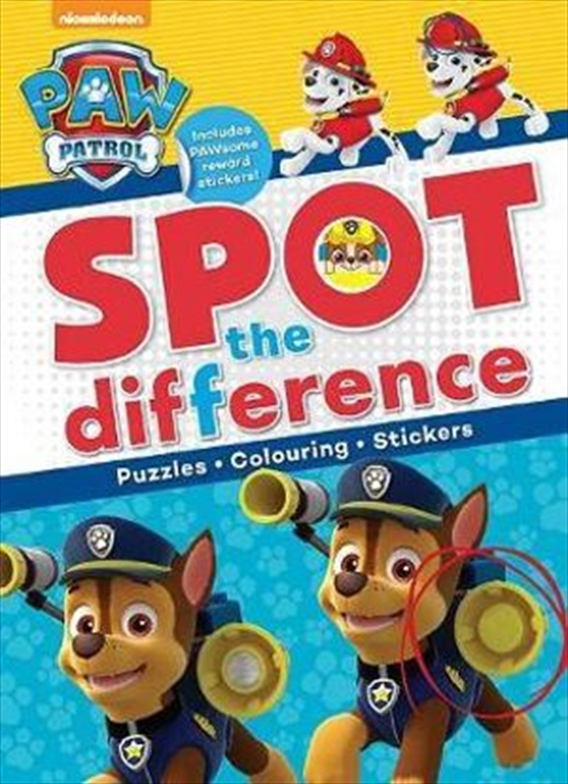 Nickelodeon PAW Patrol Spot the Difference | Paperback Book