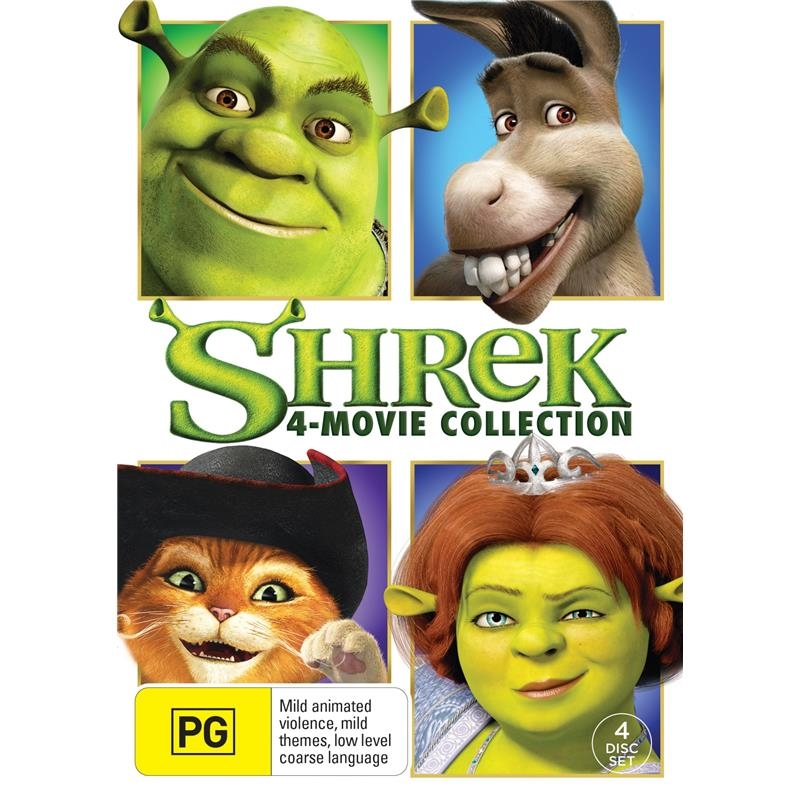 Shrek - The Whole Story - Quadrilogy Boxset | DVD