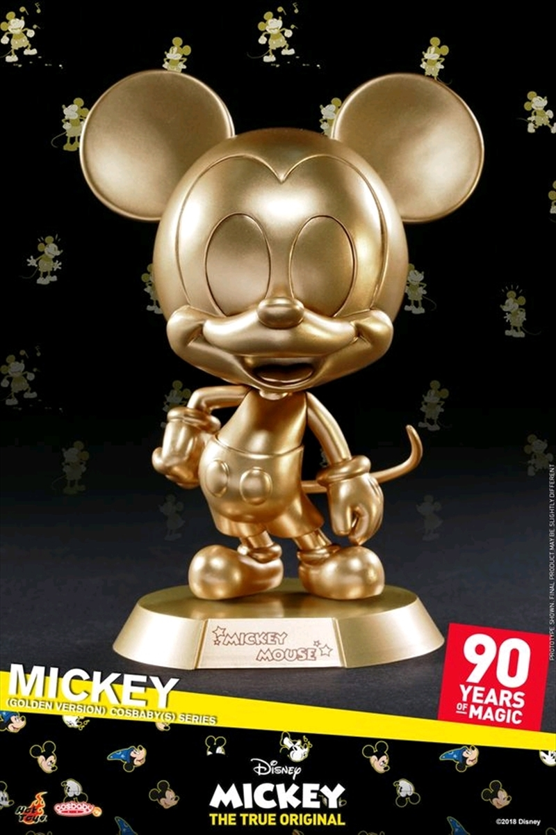 Mickey Mouse - 90th Mickey (Golden) Cosbaby   Merchandise