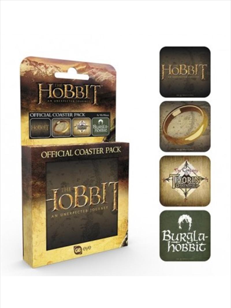 The Hobbit Mix Set Of 4 Coasters | Merchandise