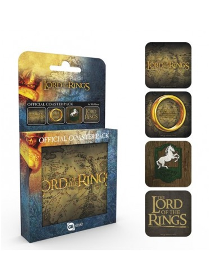 Lord of the Rings Mix Set Of 4 Coasters | Merchandise