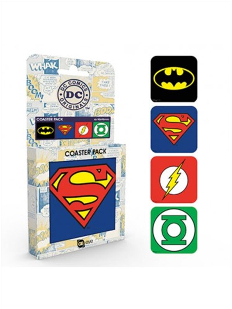 DC Comics Logos Set Of 4 Coasters | Merchandise