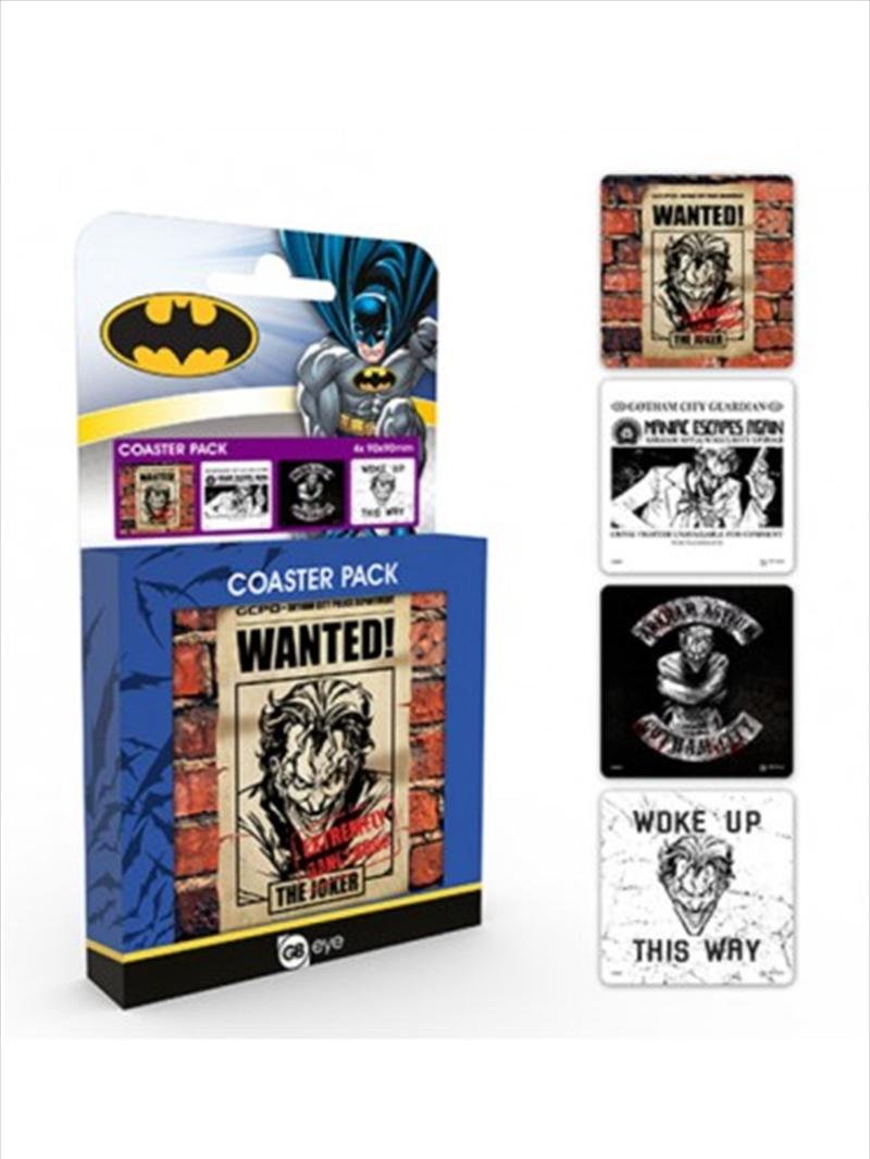 DC Comics Joker Set Of 4 Coasters | Merchandise