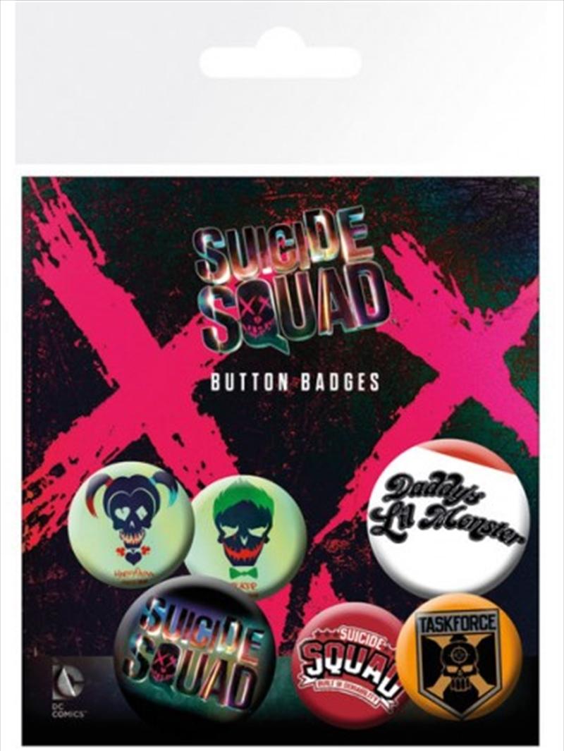 DC Comics Suicide Squad Lil Monster Badge Pack | Merchandise