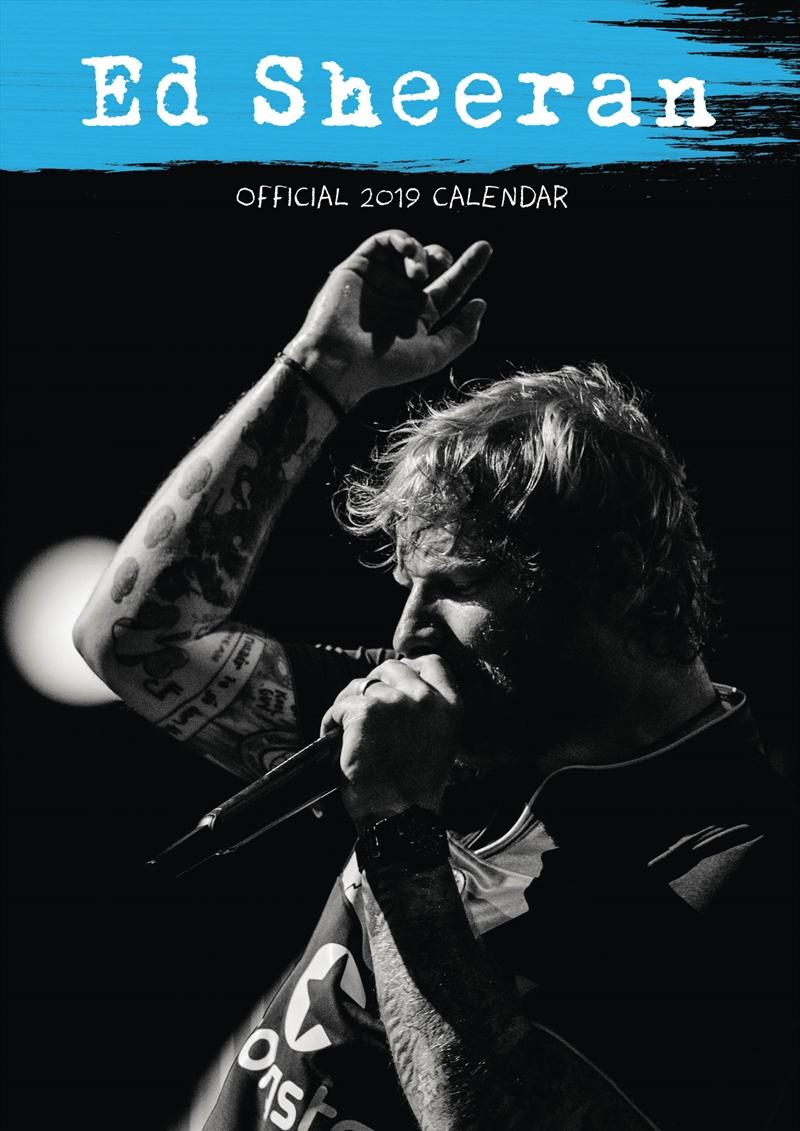 Ed Sheeran Official 2019 Calendar - Square Wall Calendar