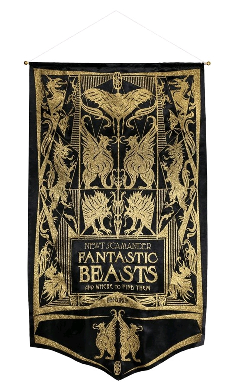 Fantastic Beasts and Where to Find Them - Newt Book Cover Gold Glitter Banner | Merchandise