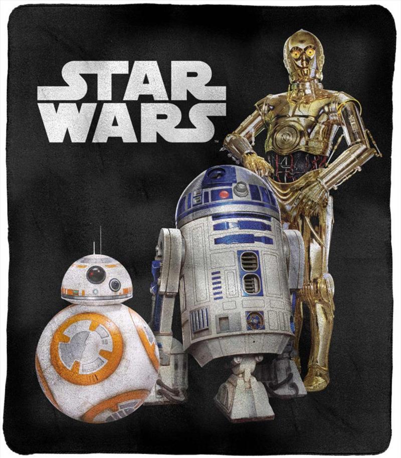 Star Wars Throw Rug C3PO, R2D2, BB8   Merchandise