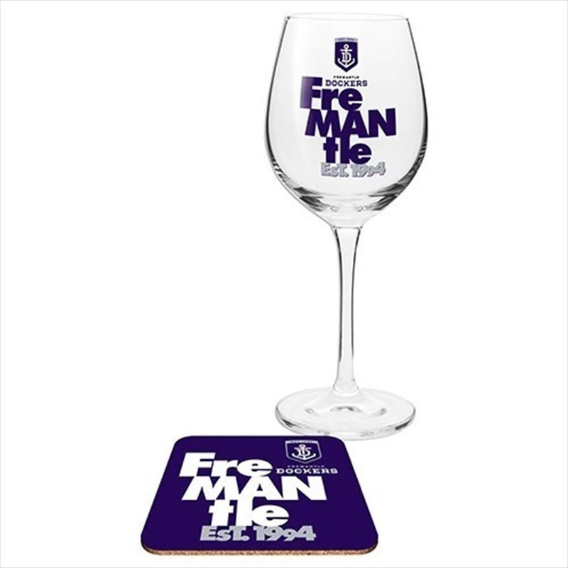Fremantle Dockers Wine & Coaster | Merchandise