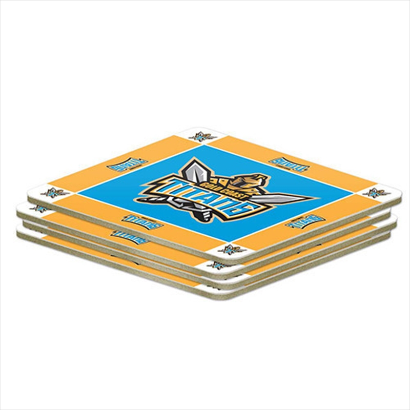 NRL Coaster 4 Pack Gold Coast Titans | Merchandise