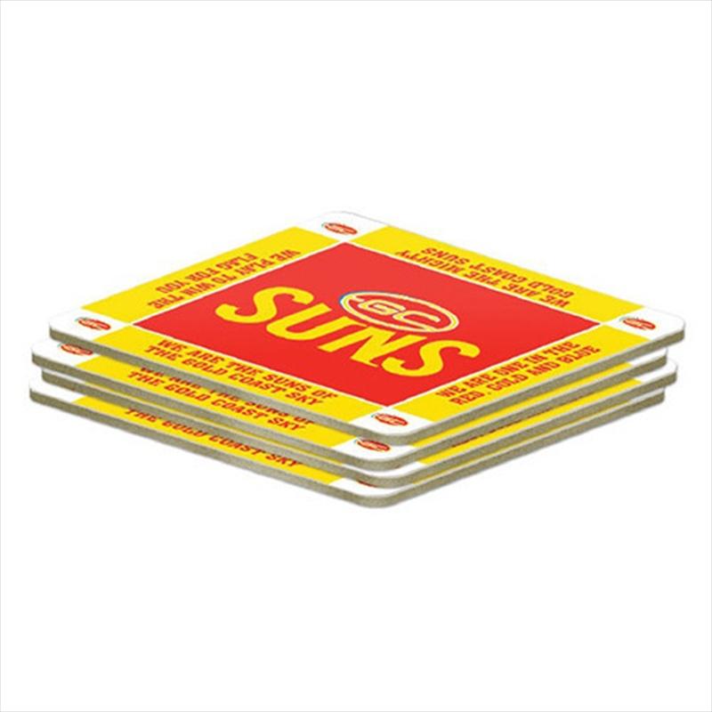 AFL Coaster 4 Pack Gold Coasts Suns | Merchandise