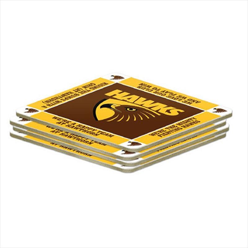 AFL Coaster 4 Pack Hawthorn Hawks | Merchandise