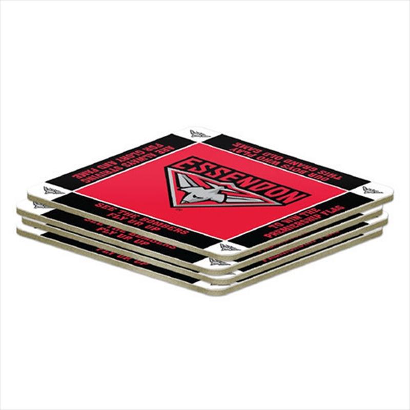 AFL Coaster 4 Pack Essendon Bombers | Merchandise