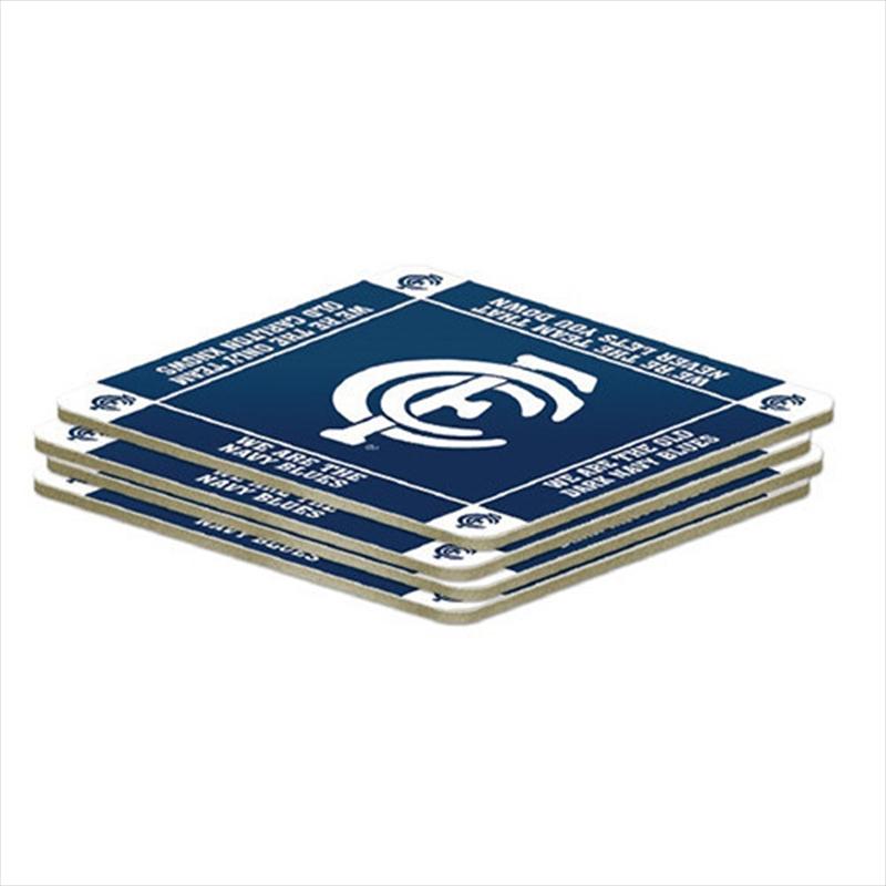 AFL Coaster 4 Pack Carlton Blues | Merchandise