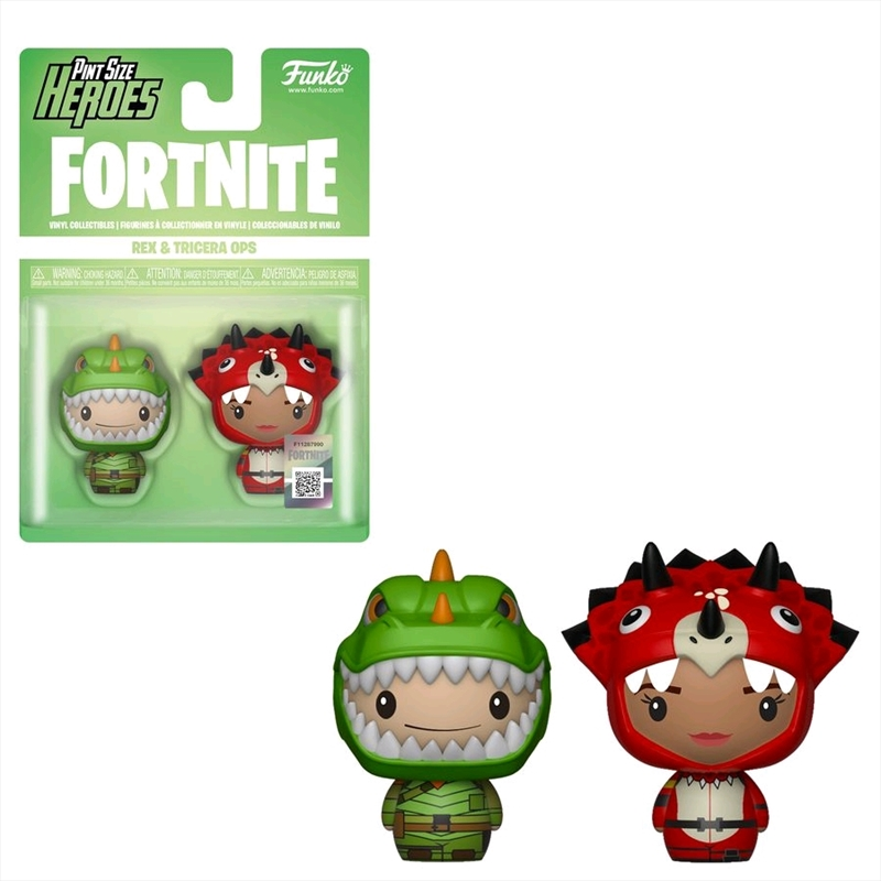 Fortnite - Rex & Tricera Ops Pint Size Hero 2-pack | Merchandise