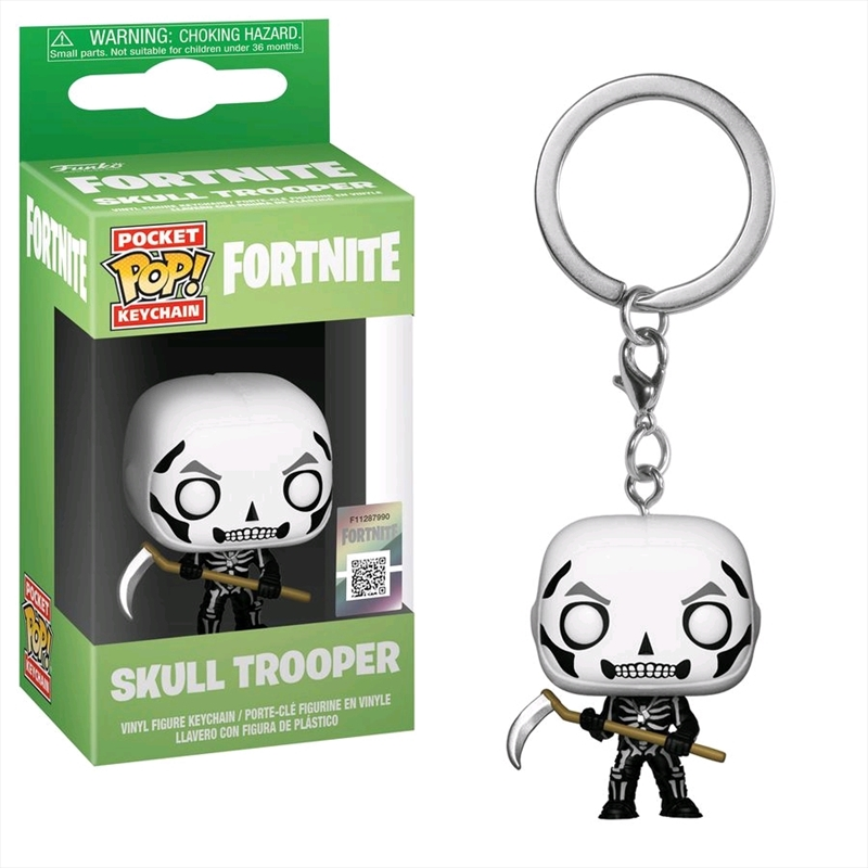 Fortnite - Skulltrooper Pocket Pop! Keychain   Pop Vinyl