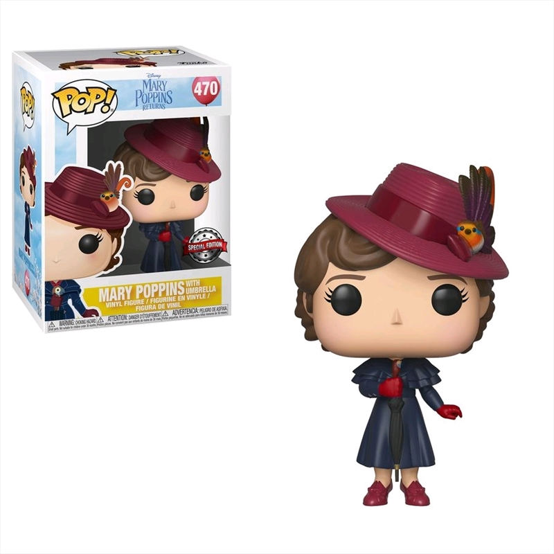 Mary Poppins Returns - Mary Poppins with Umbrella Pop! Vinyl [RS] | Pop Vinyl