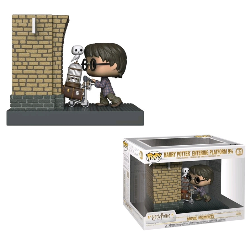 Harry Potter - Harry Potter Entering Platform 9 3/4 US Exclusive Movie Moment Pop! Vinyl [RS] | Pop Vinyl