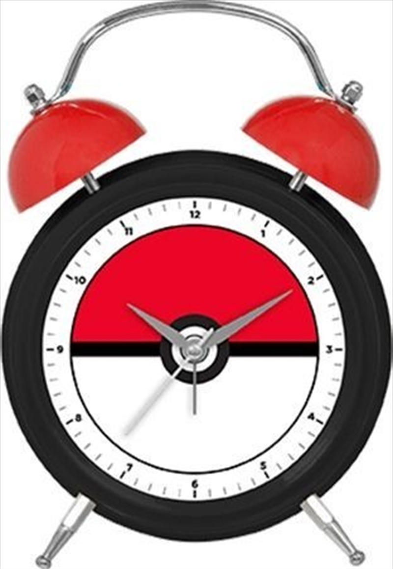 Pokemon Twin Bell Clock Pokeball   Accessories