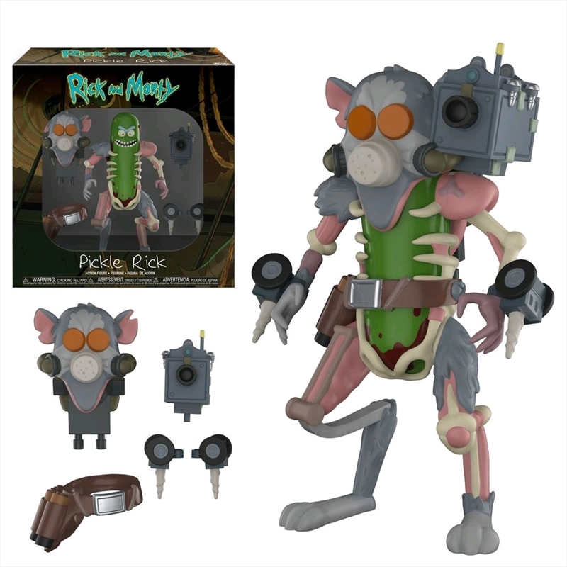 Rick and Morty - Pickle Rick Action Figure | Merchandise