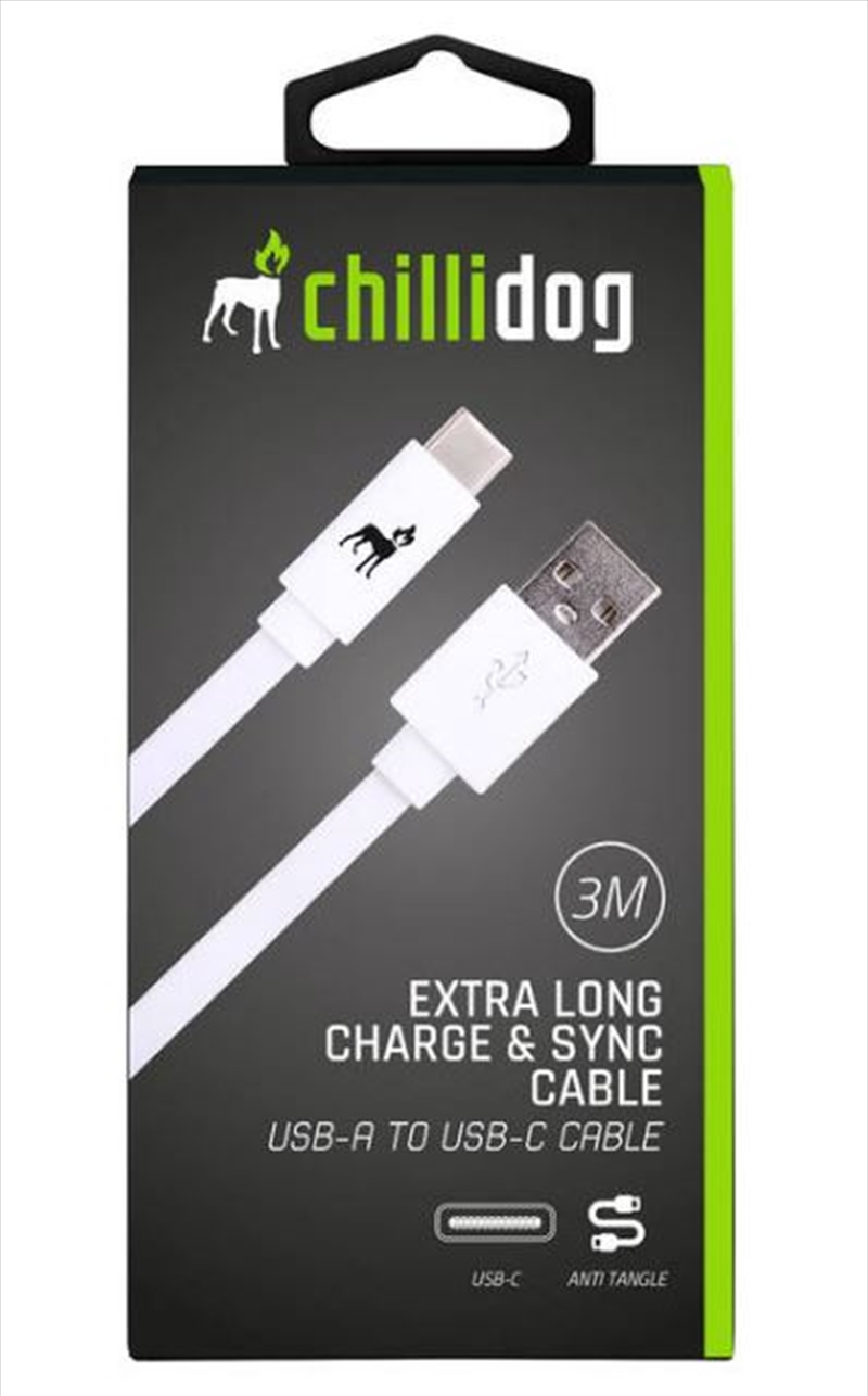 USB A to USB C Cable - White 3m | Accessories