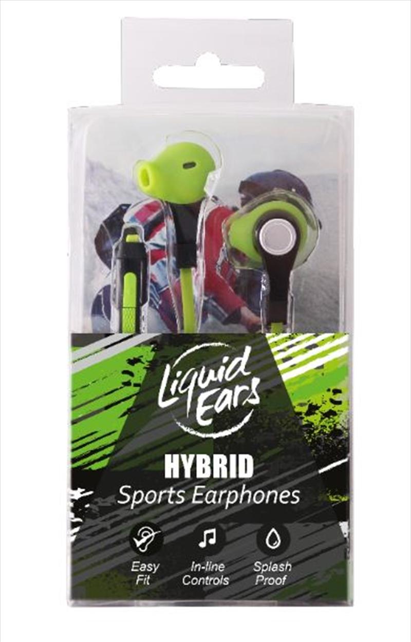 Liquid Ears - Sports Hybrid Neon Green   Accessories