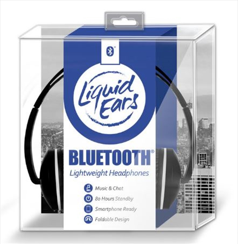 Liquid Ears - Bluetooth Lightweight Headphones Black | Accessories