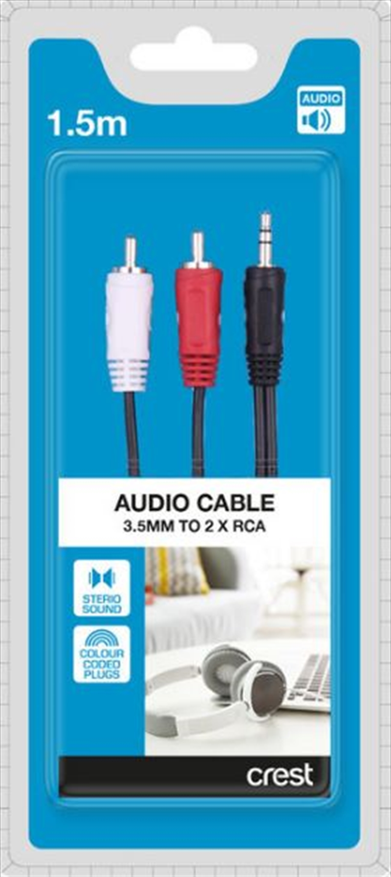 3.5mm to 2 x RCA Audio Cable - 1.5M | Accessories