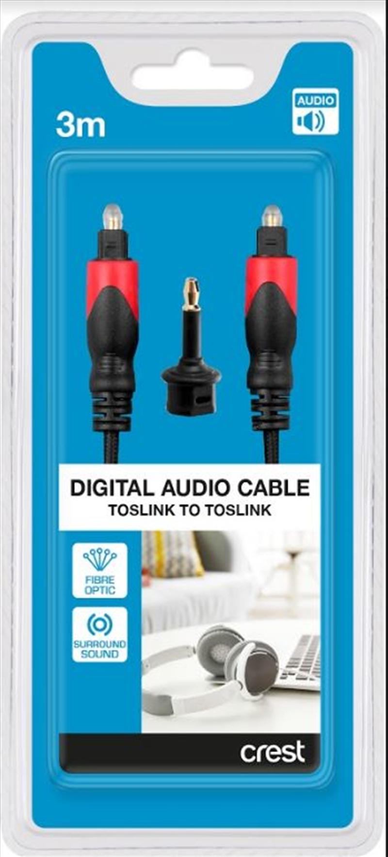 Digital Optical Audio Cable Toslink - 3M | Accessories