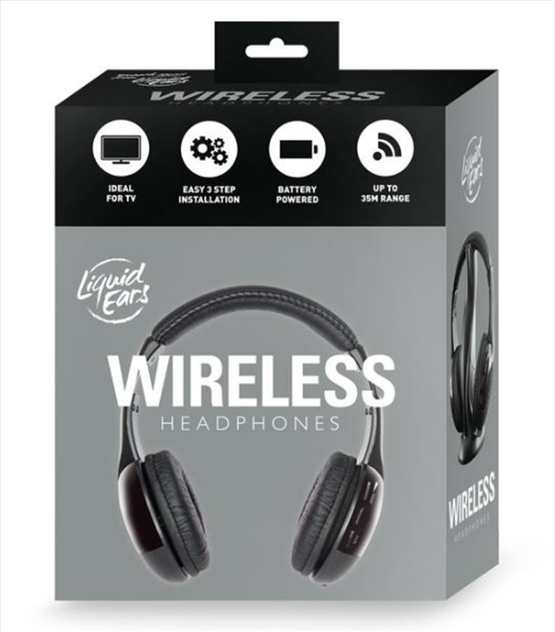 Liquid Ears - Classic Wireless Headphones - Black | Accessories