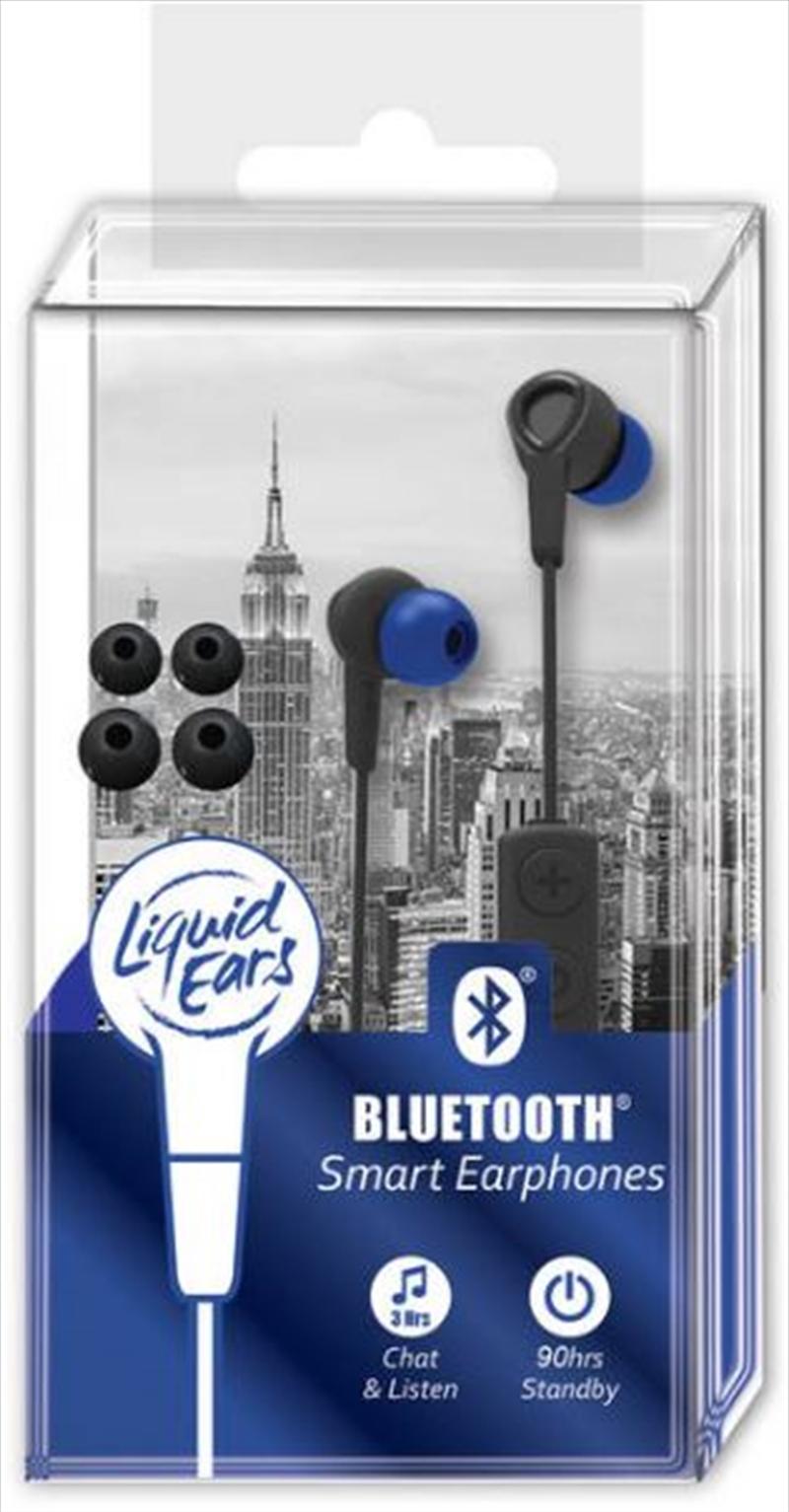 Liquid Ears - Bluetooth Smart Earphones Black/Blue | Accessories