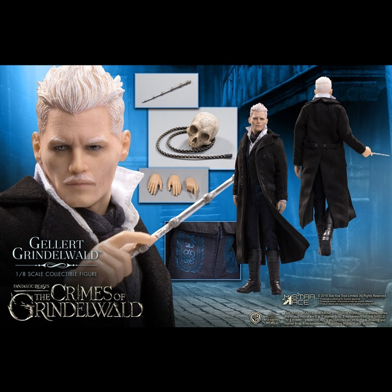 Fantastic Beasts 2: The Crimes of Grindelwald - Gellert Grindelwald 1:8 Scale Action Figure | Merchandise